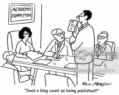 'Does a blog count as being published.'